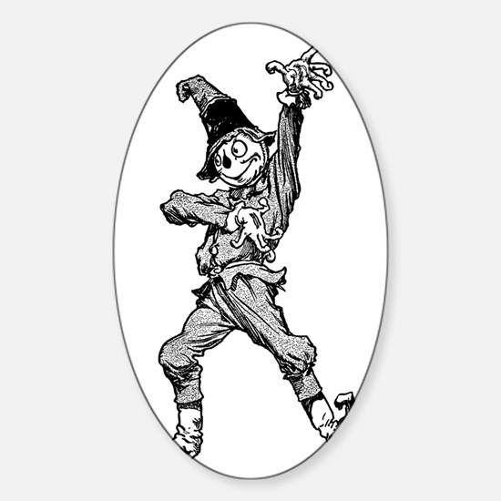 Scarecrow Dancing Disco Style Sticker (Oval)