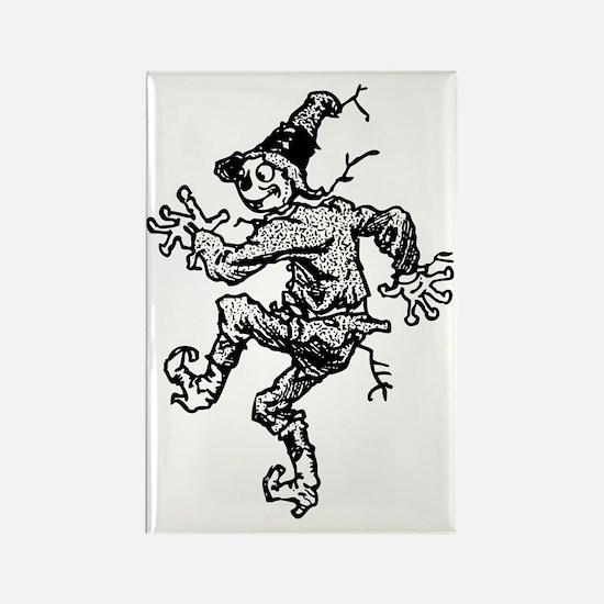 Scarecrow Skanking Rectangle Magnet