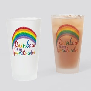 Rainbow is My Favorite Color Drinking Glass