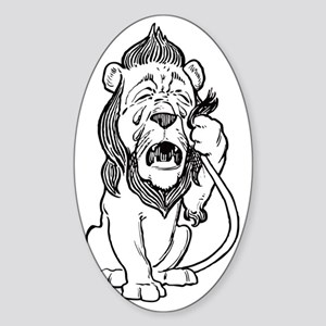 Cowardly Lion Sticker (Oval)