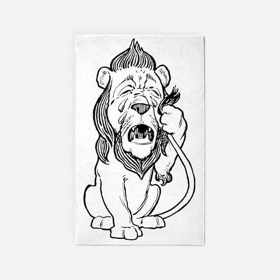 Cowardly Lion 3'x5' Area Rug
