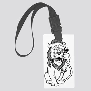 Cowardly Lion Large Luggage Tag
