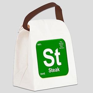 Steak Element- Green Canvas Lunch Bag
