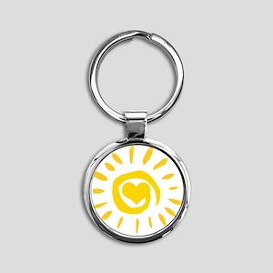 00110_Sun129 Round Keychain
