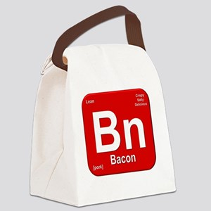 Bacon Element- Red Canvas Lunch Bag
