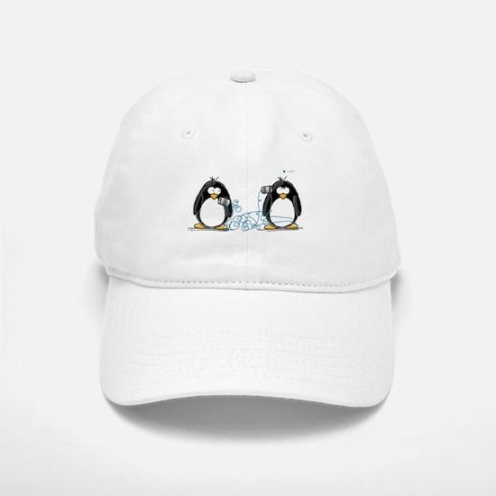 Communication - Penguin Humor Baseball Baseball Cap