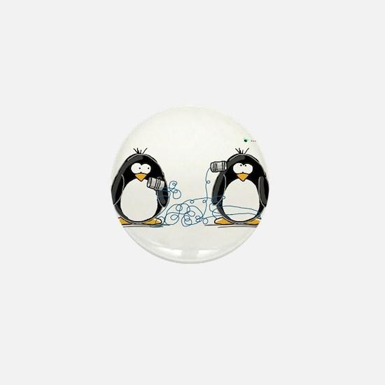 Communication - Penguin Humor Mini Button