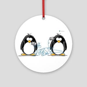 Communication - Penguin Humor Ornament (Round)