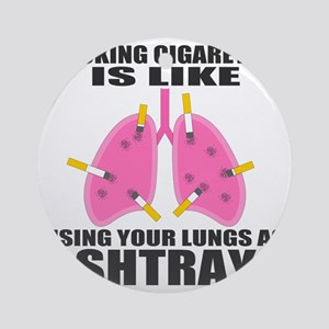 Ashtray Lungs Round Ornament