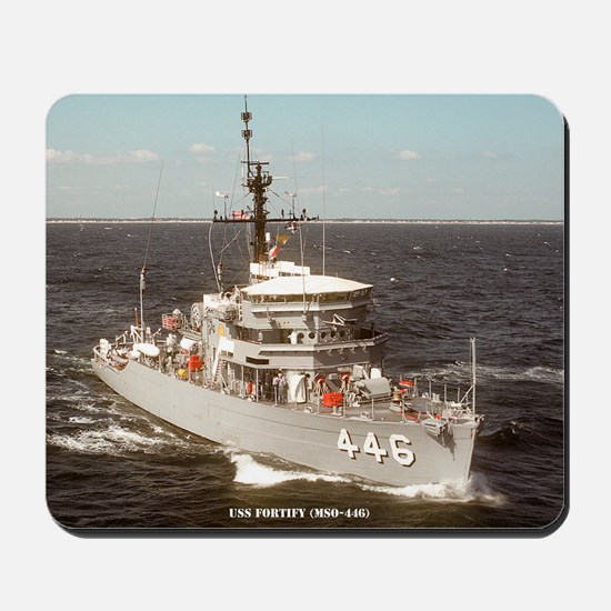 uss fortify large framed print Mousepad