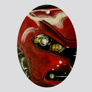 Vroom Oval Ornament