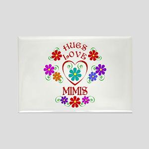 Hugs Love Mimis Magnets