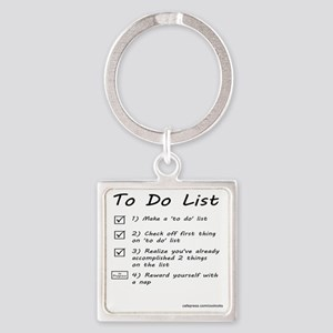 To Do List Square Keychain