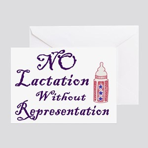 No Lactation Without Representation! Greeting Card