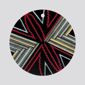 MIMBRES SPIDER BOWL DESIGN Ornament (Round)