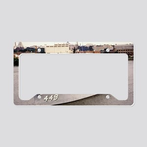 uss impervious large framed p License Plate Holder