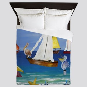 Pelican Beach Queen Duvet