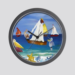 Pelican Beach Wall Clock