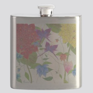 Many Flowers Flask