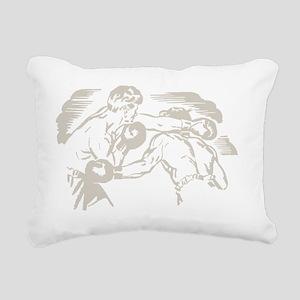 Two Boxers Rectangular Canvas Pillow