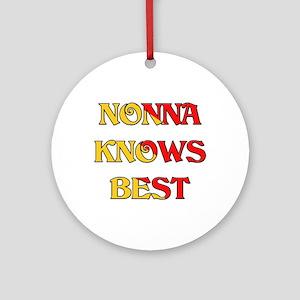 Nonna Knows Best Ornament (Round)