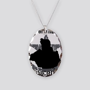Soldier Code First of the Firs Necklace Oval Charm