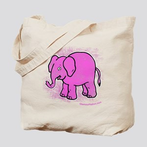 Pink Elephant distroyed Tote Bag