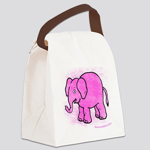Pink Elephant distroyed Canvas Lunch Bag