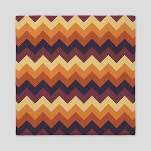 Chevron zigzag design dark light brown Queen Duvet