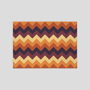 Chevron zigzag design dark light br 5'x7'Area Rug