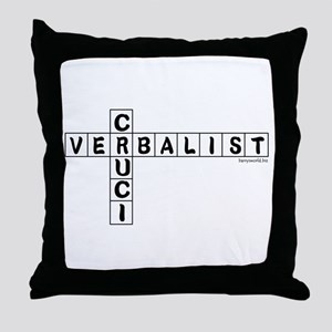 Cruciverbalist Throw Pillow
