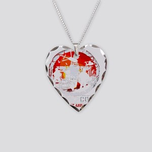 Soldier Code Steadfast and St Necklace Heart Charm