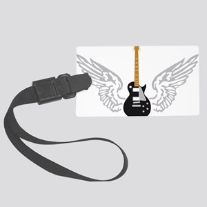 e-guitar player wings Large Luggage Tag