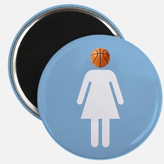 """UNC B-Ball Girl"" Magnet"