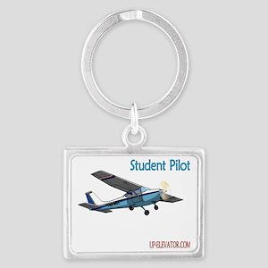 Student Pilot Landscape Keychain