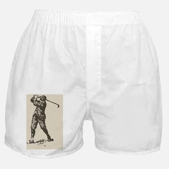 Retro Golfer Boxer Shorts