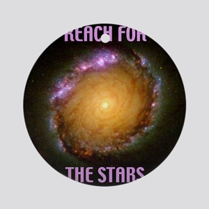 tilebarredspiralgalaxyngcreachstars Round Ornament