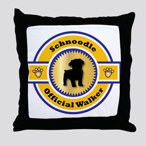 Schnoodle Walker Throw Pillow