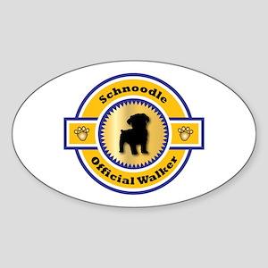 Schnoodle Walker Oval Sticker