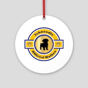 Schnoodle Walker Ornament (Round)
