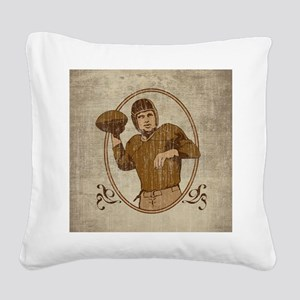 Football Player Square Canvas Pillow