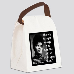 Wells Truth Quote 2 Canvas Lunch Bag