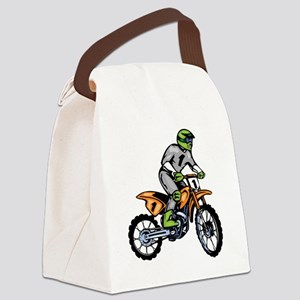 00004_Motorcross4 Canvas Lunch Bag