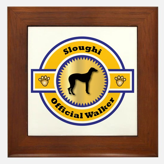 Sloughi Walker Framed Tile