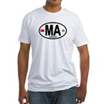 Morocco Euro-style Country Code Fitted T-Shirt