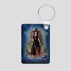 Moon Witch Aluminum Photo Keychain
