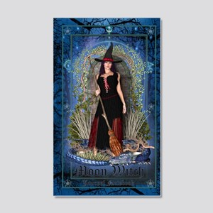 Moon Witch 20x12 Wall Decal