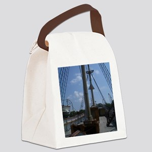 Sailboat at Mystic Canvas Lunch Bag