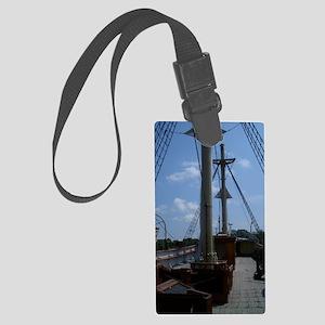 Sailboat at Mystic Large Luggage Tag