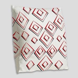 Diamond Pattern Burlap Throw Pillow